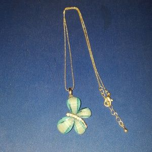 Other - Glass, butterfly necklace.